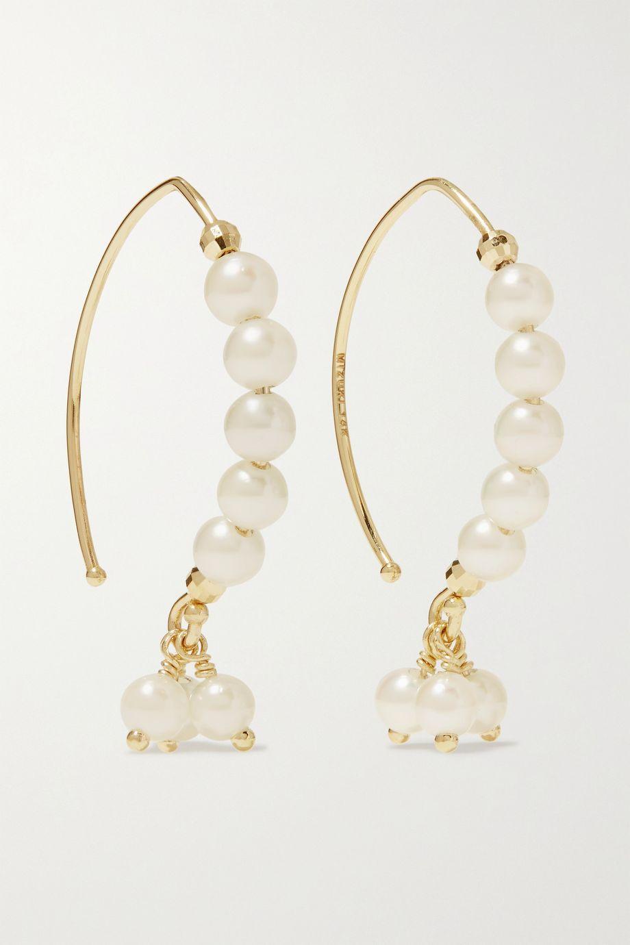 Mizuki Boucles d'oreilles en or 14 carats et perles