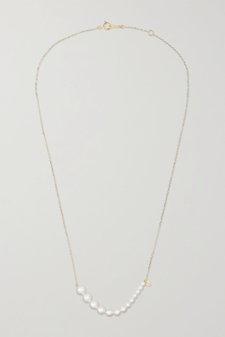 Mizuki 14K 黄金、钻石、珍珠项链