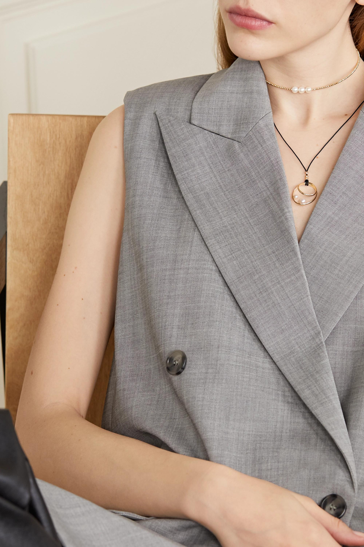Mizuki Kette aus Seide mit Details aus 14 Karat Gold und Perlen