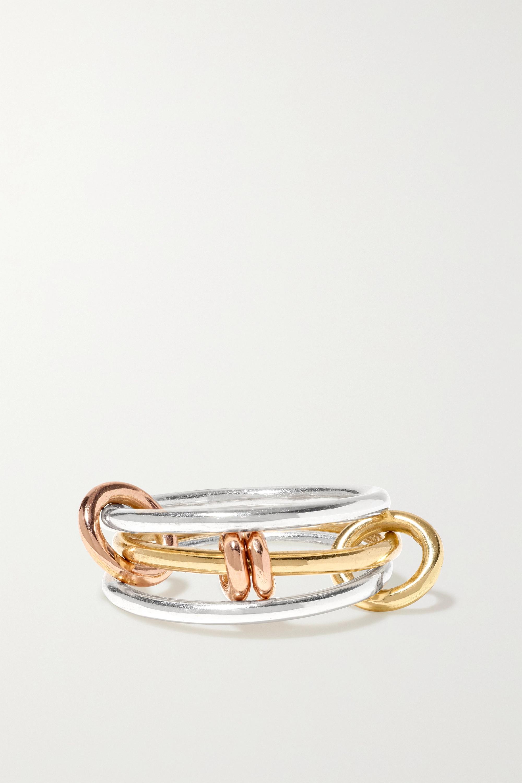 Spinelli Kilcollin Bague en or rose et jaune 18 carats et en argent sterling Acacia MX