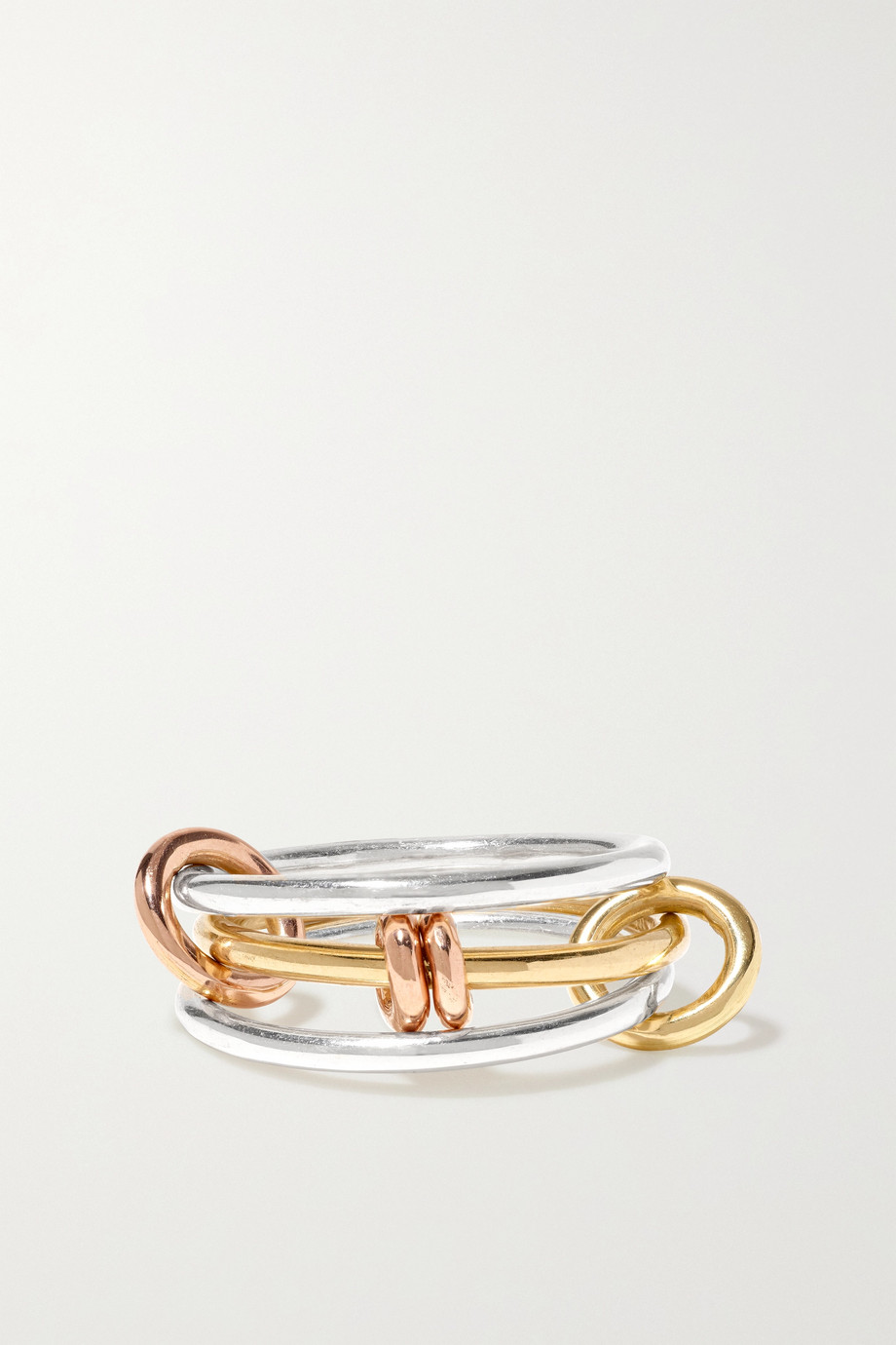 Spinelli Kilcollin Acacia MX sterling silver and 18-karat yellow and rose gold ring