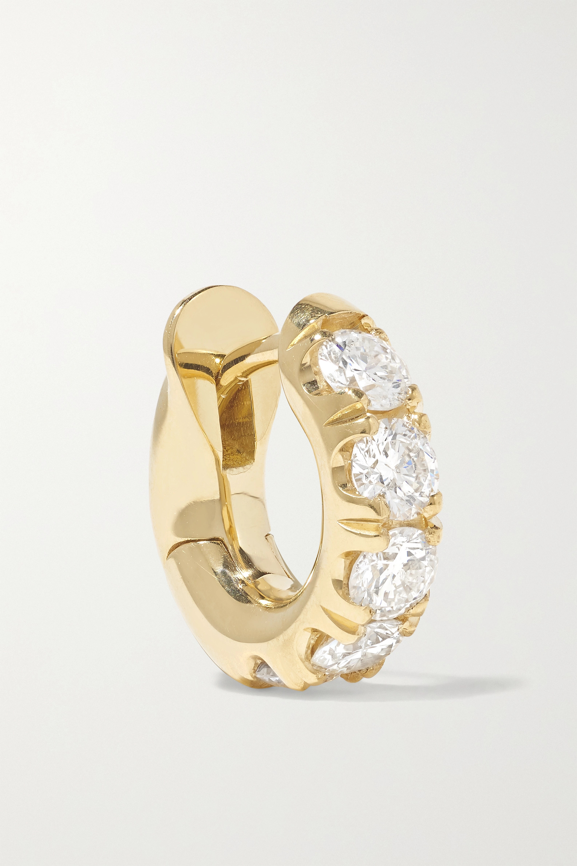 Spinelli Kilcollin 18-karat gold diamond hoop earring