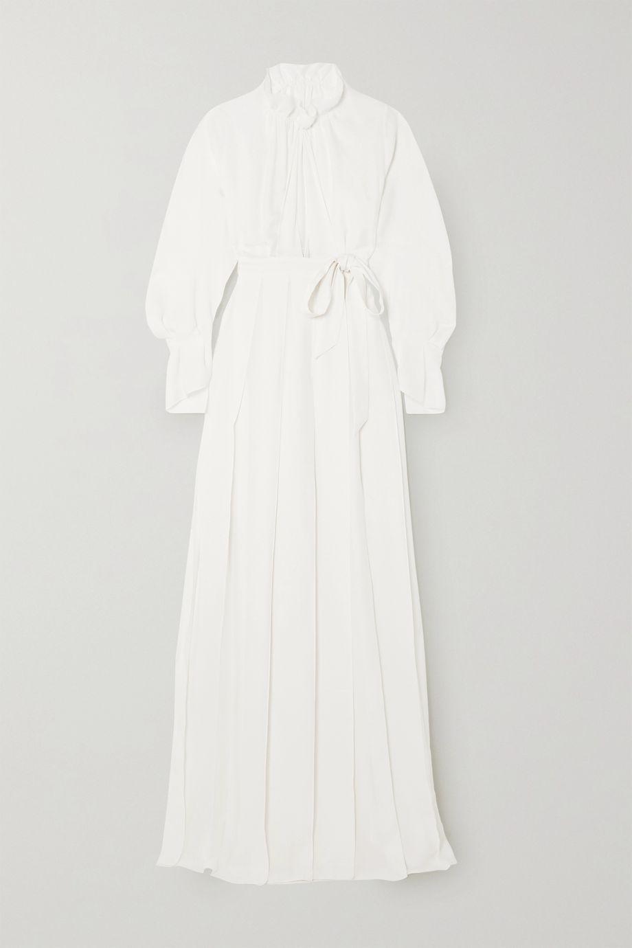 Roland Mouret Evora belted silk-georgette wrap gown