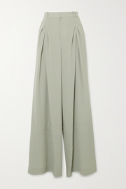 Valens pleated wool-crepe pants