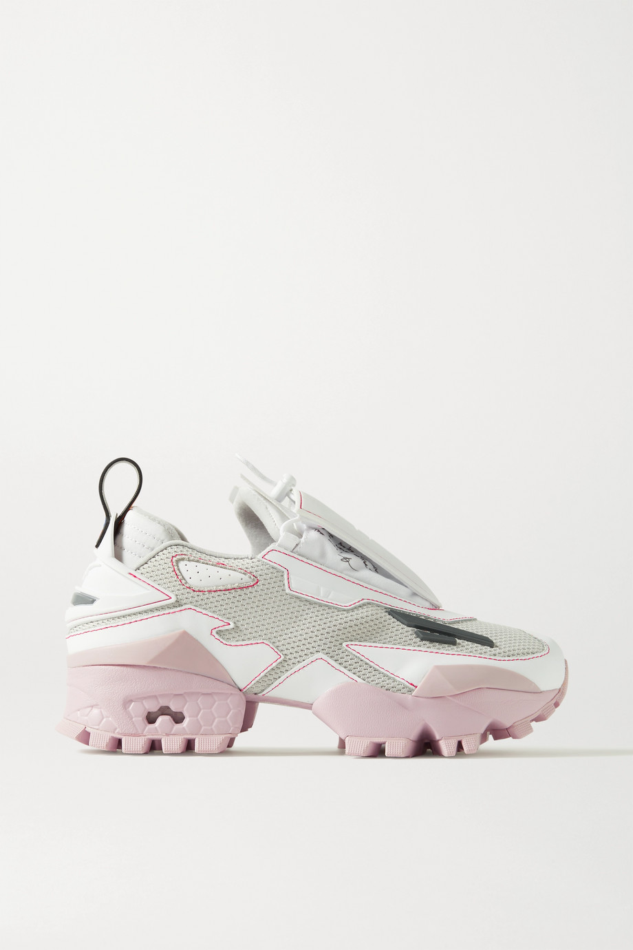 Reebok + Pyer Moss Trail Fury mesh and faux leather sneakers