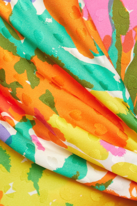 Alessandra Rich Draped floral-print silk-jacquard midi dress