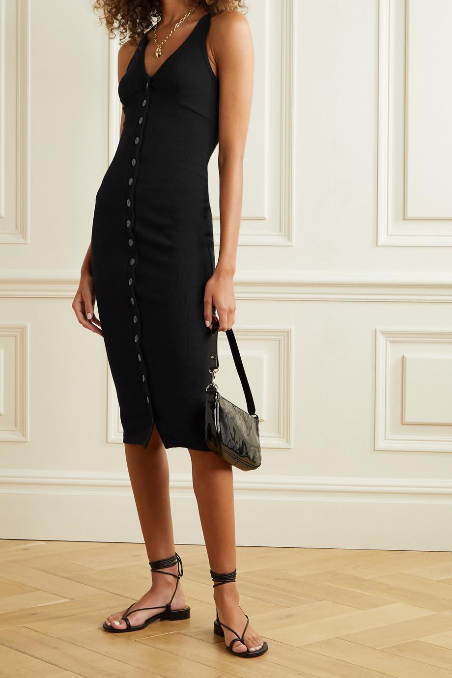 The Line By K Harper Kleid aus geripptem Jersey aus Stretch-Baumwolle