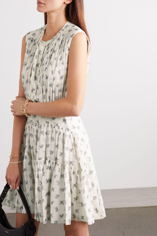 Chloé Minikleid aus Seiden-Georgette mit Blumenprint