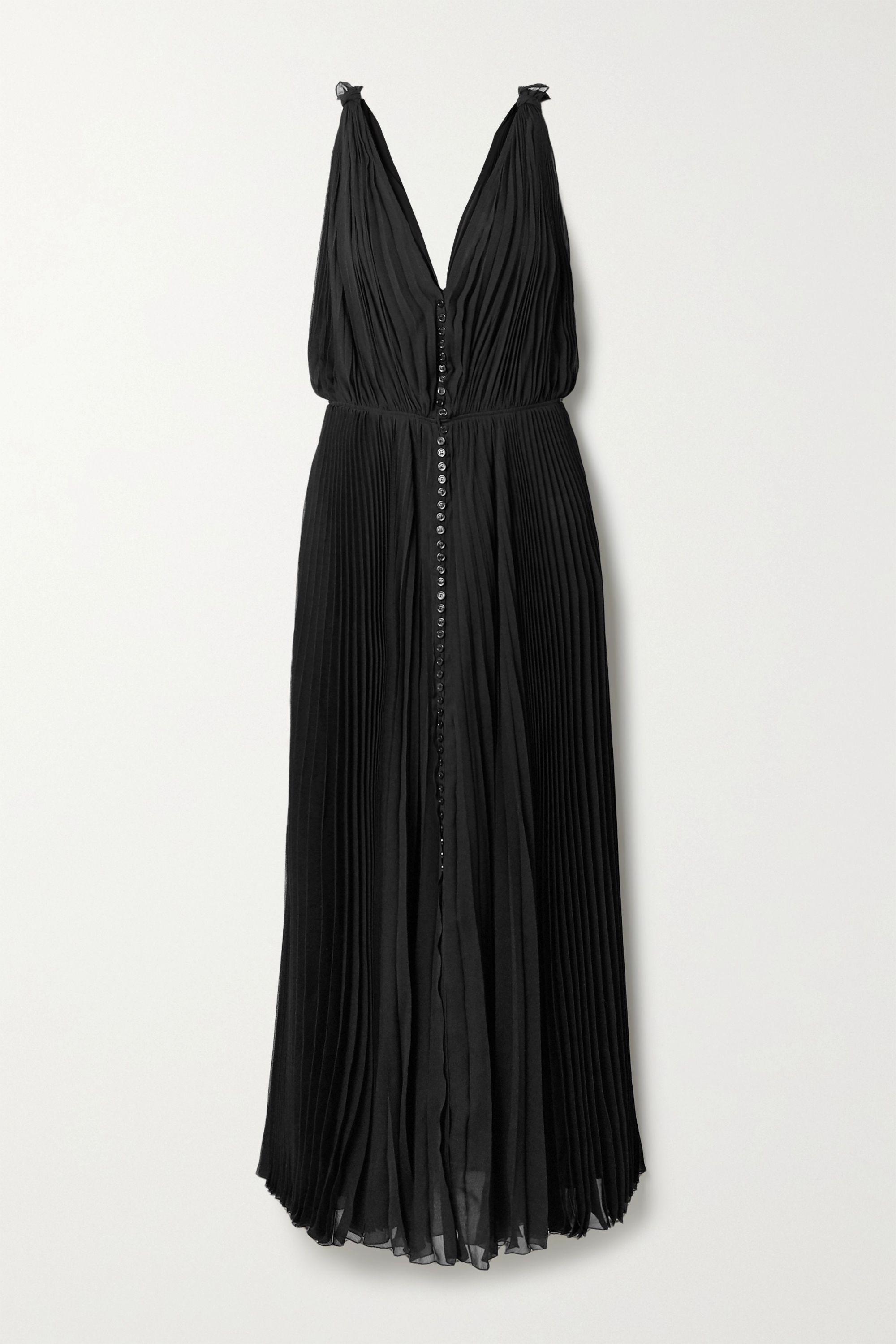 Chloé Plissé-crepon maxi dress