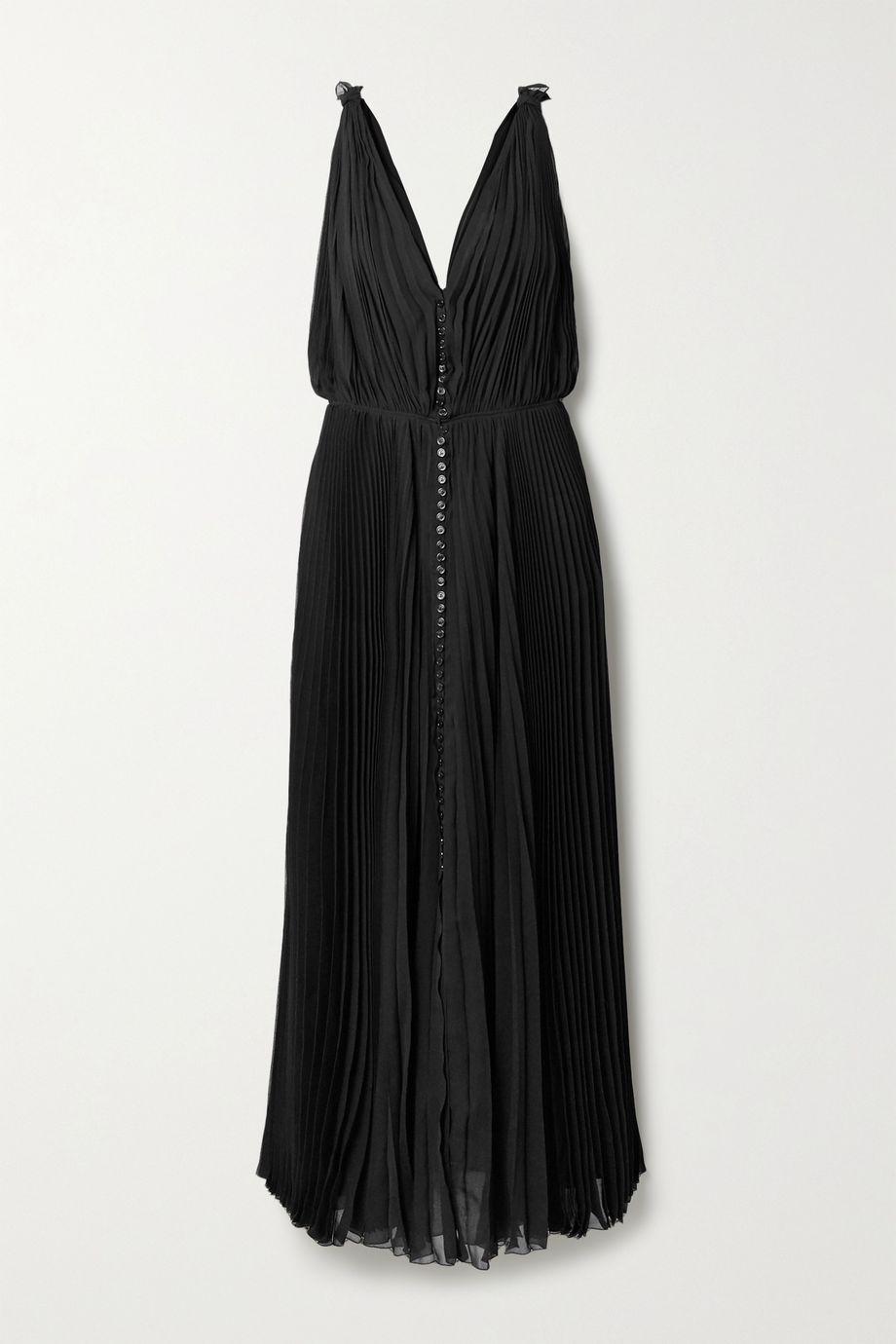 Chloé Robe longue en crépon plissé