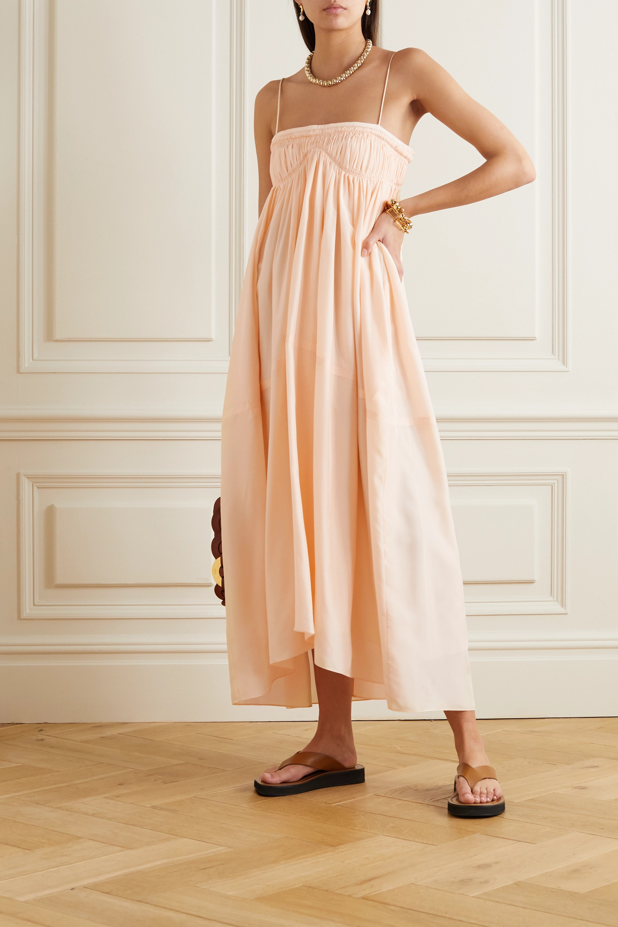 Chloé Ruched silk gown