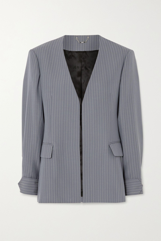 Chloé Pinstriped grain de poudre wool blazer