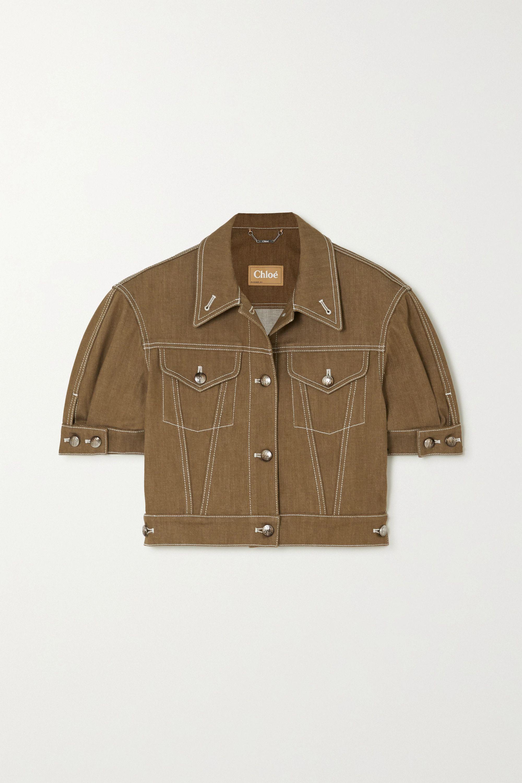 Chloé 明线细节短款牛仔外套