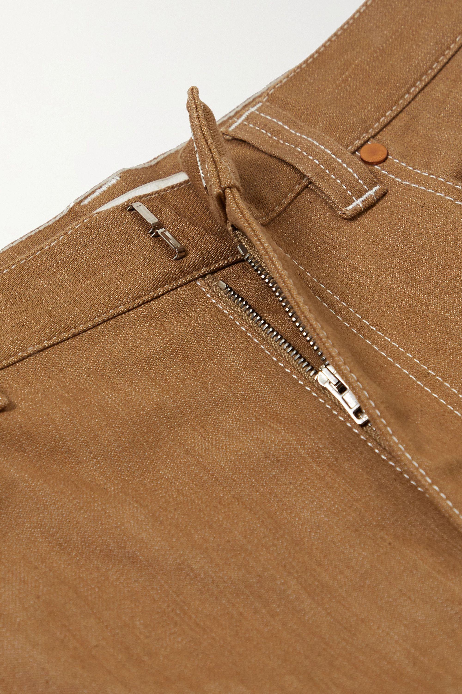 Chloé Jeans mit weitem Bein und Kontrastnähten