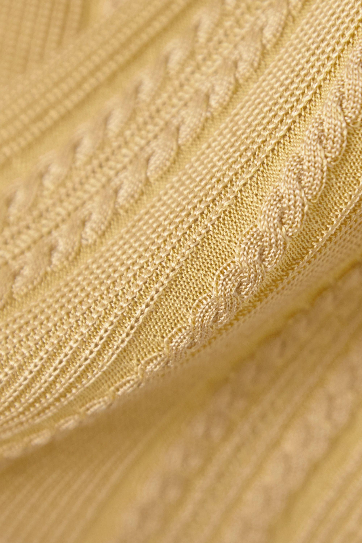 Chloé Débardeur en soie à mailles torsadées métallisées
