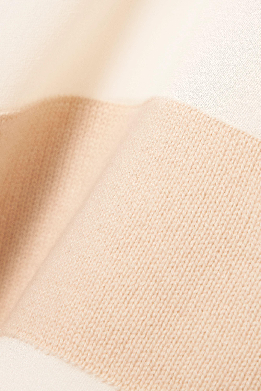 Chloé Gestreifter Pullover aus einer Mischung aus Wolle, Seide und Kaschmir mit Einsätzen aus Organza
