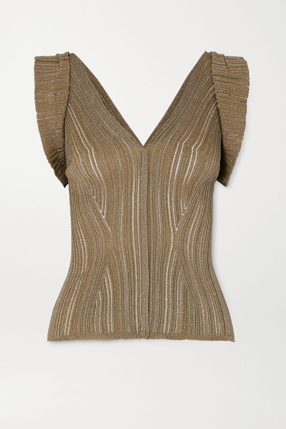 Chloé Ribbed Lurex top
