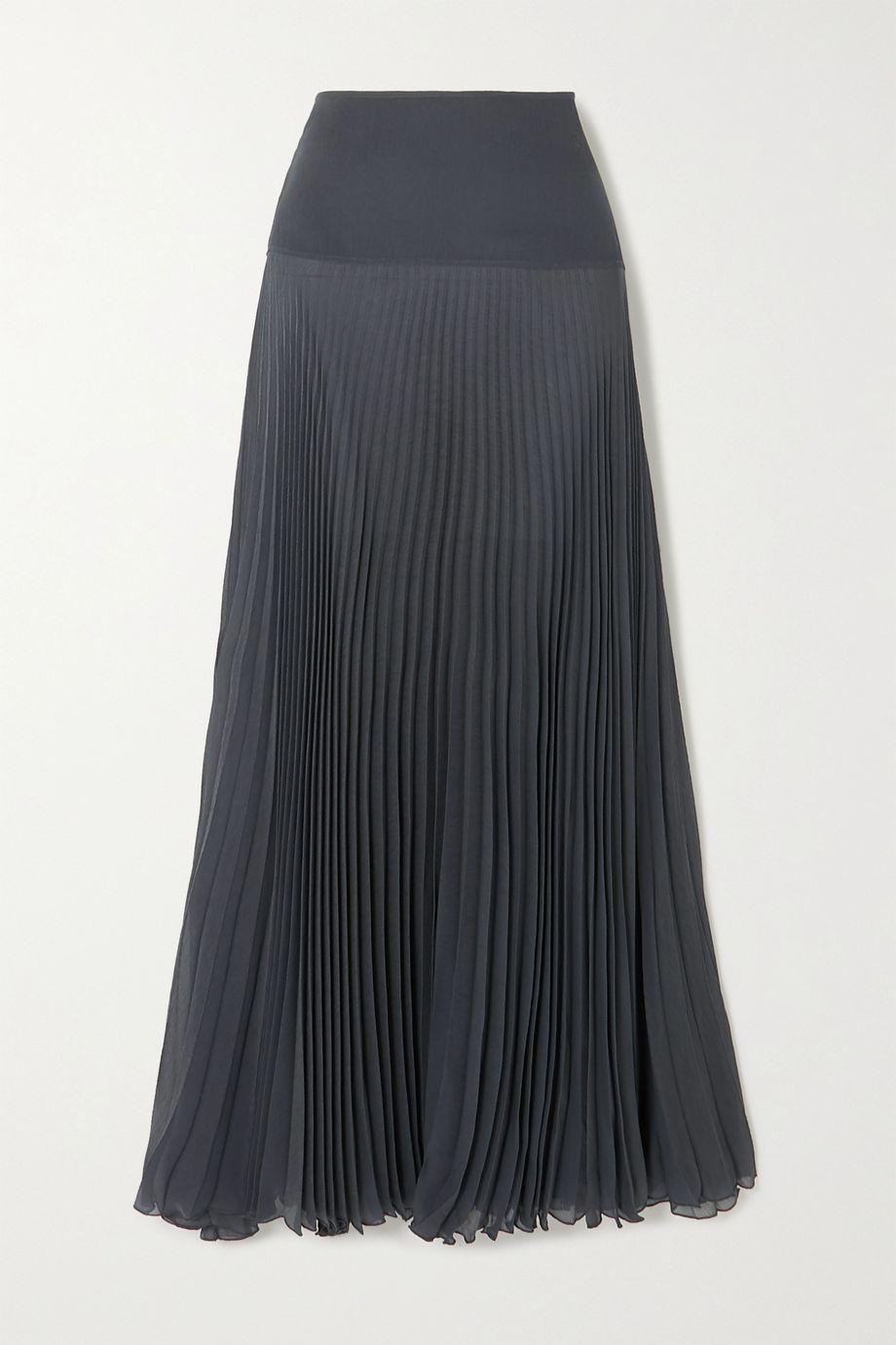 Chloé Maxirock aus plissiertem Krepon