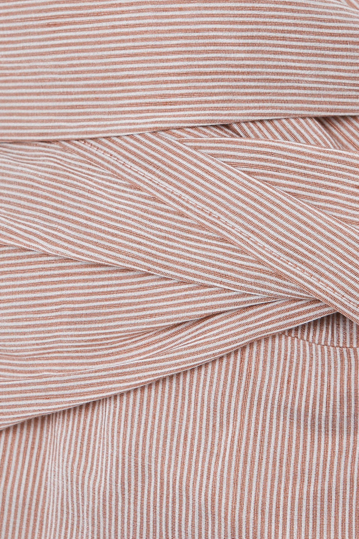 Chloé Haut asymétrique en lin mélangé à rayures