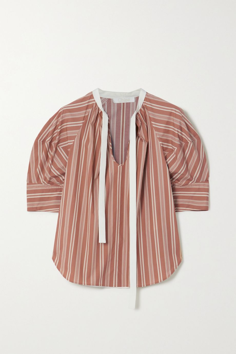 Chloé Striped silk blouse