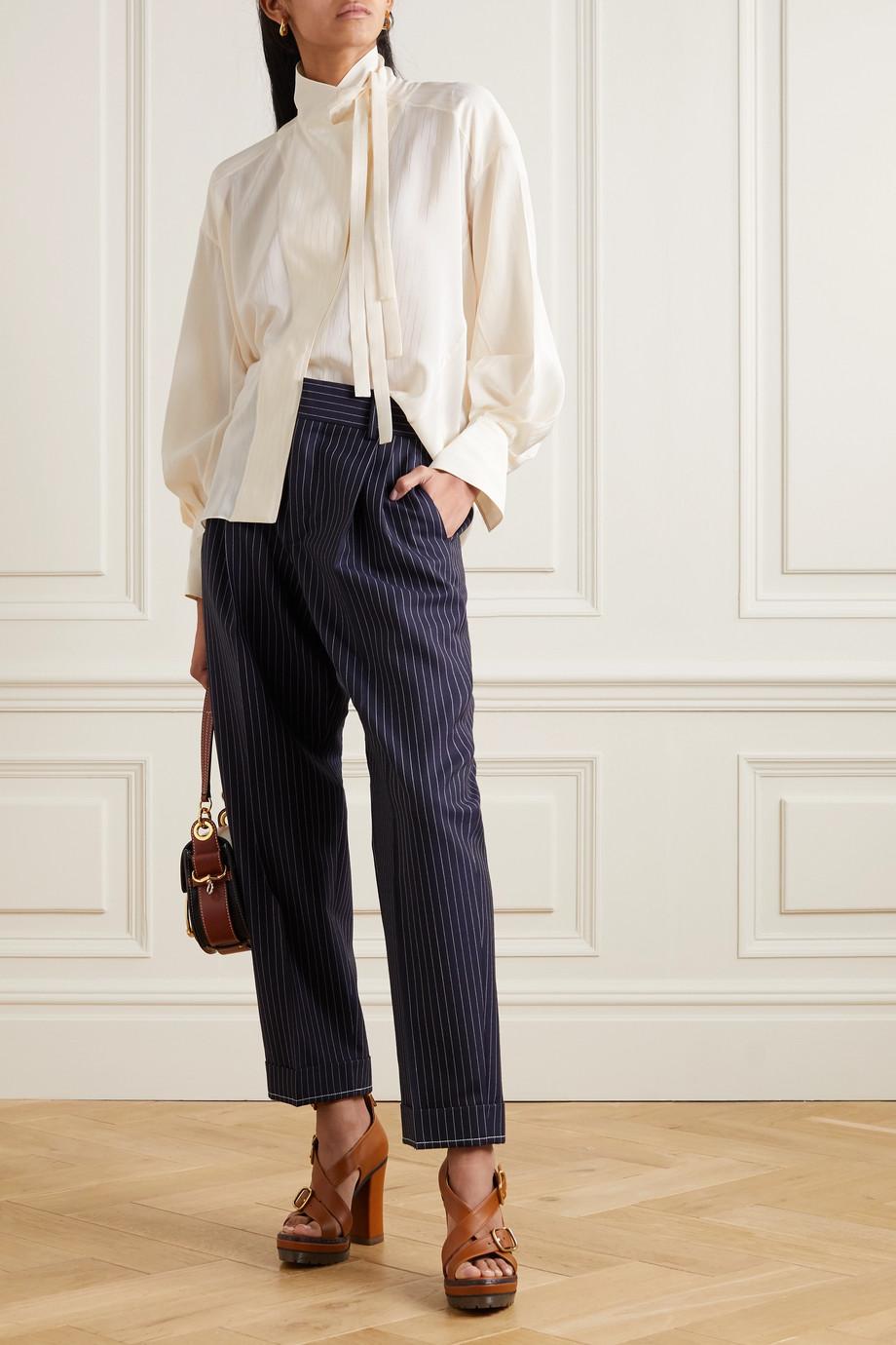 Chloé Tie-detailed silk blouse