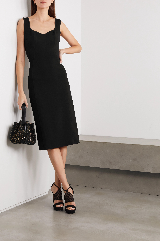 Alaïa Stretch-knit midi dress
