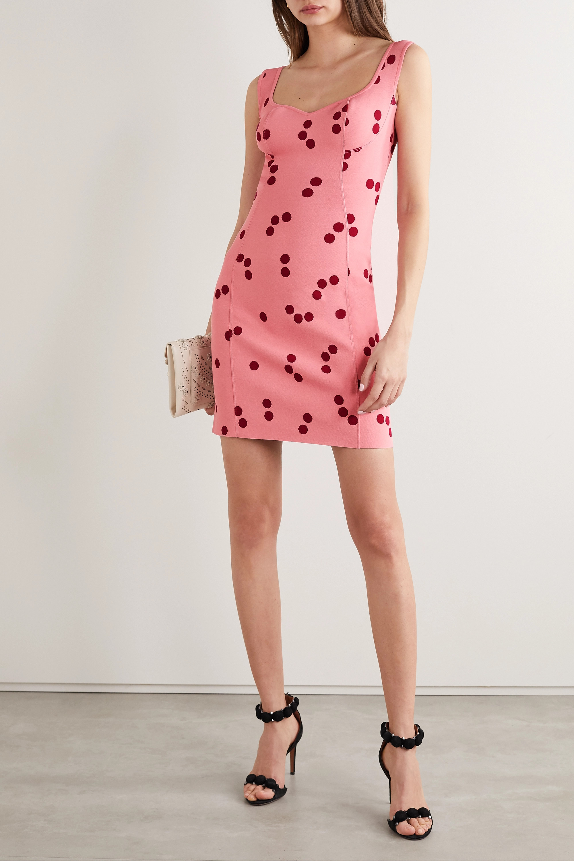 Alaïa Edition polka-dot jacquard-knit mini dress