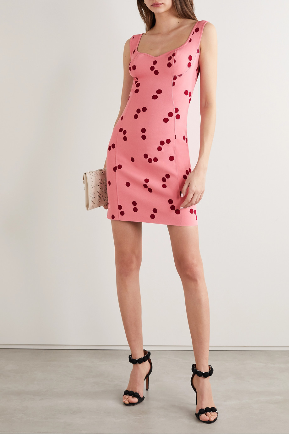 Alaïa Edition polka-dot jacquard-knit mini dress