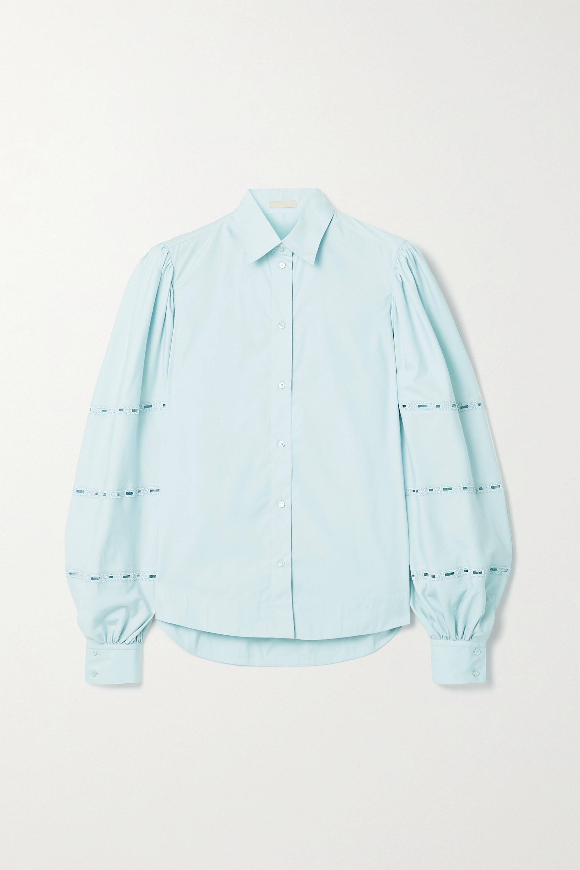 Alaïa Broderie anglaise cotton-poplin blouse