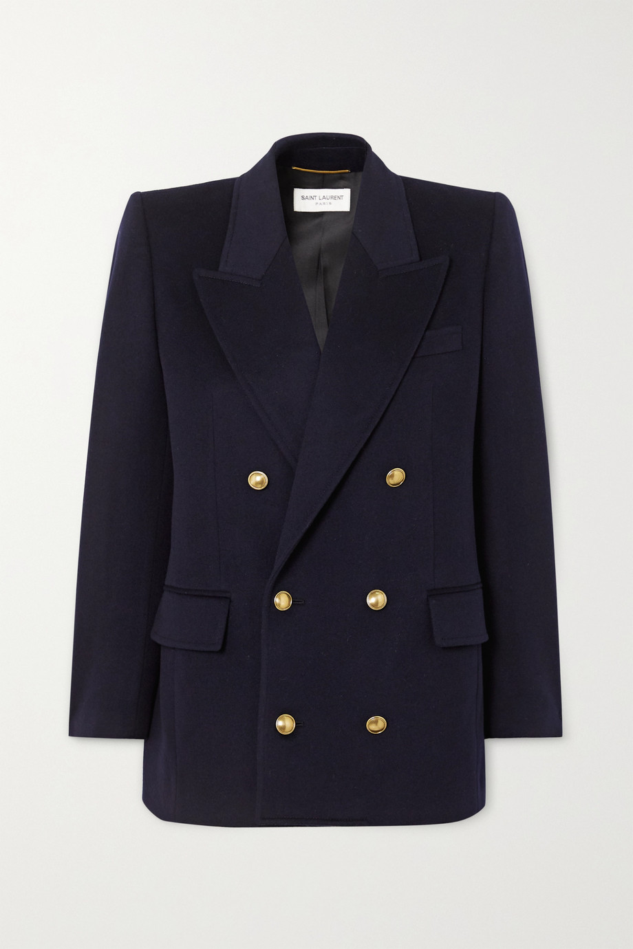 Double Breasted Cashmere Blend Blazer