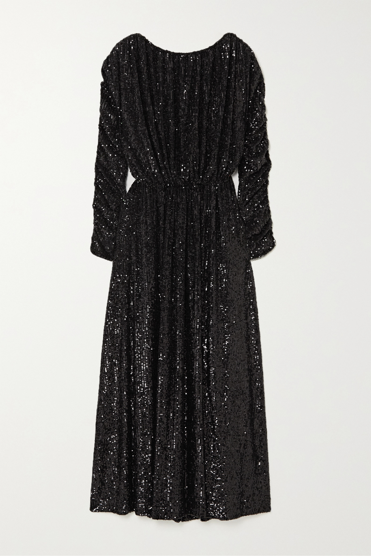 SAINT LAURENT Sequined jersey maxi dress