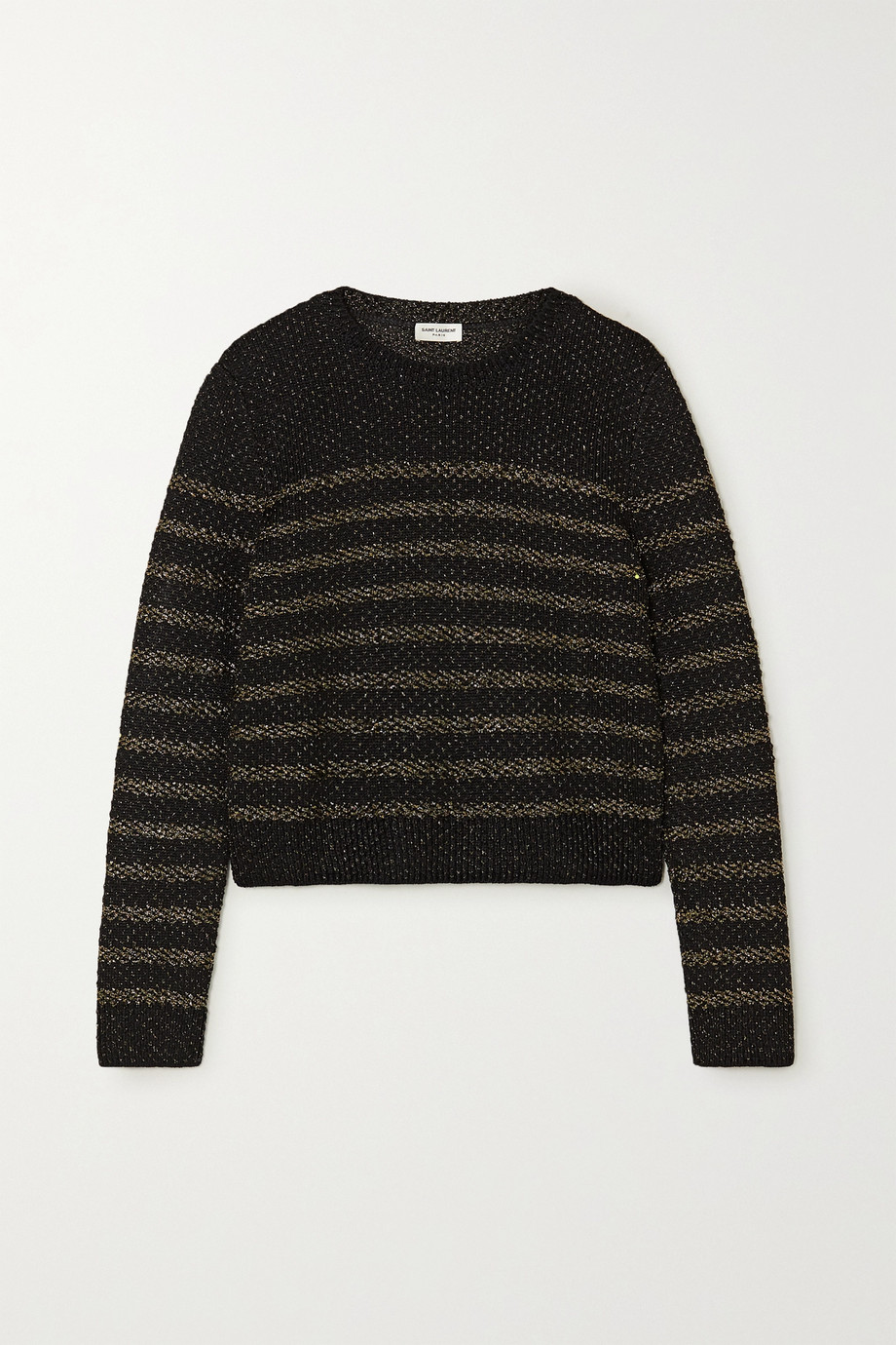 SAINT LAURENT Striped Lurex sweater
