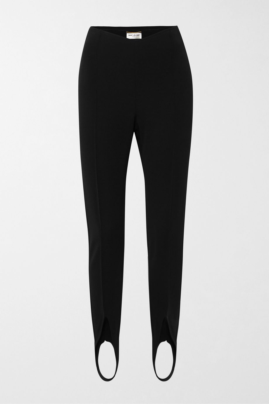 SAINT LAURENT Stretch-knit stirrup leggings