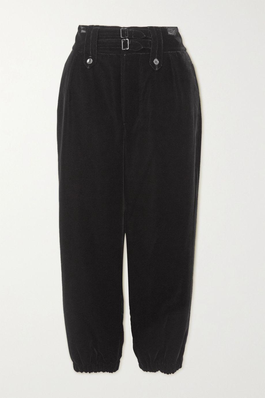 SAINT LAURENT Velvet tapered pants