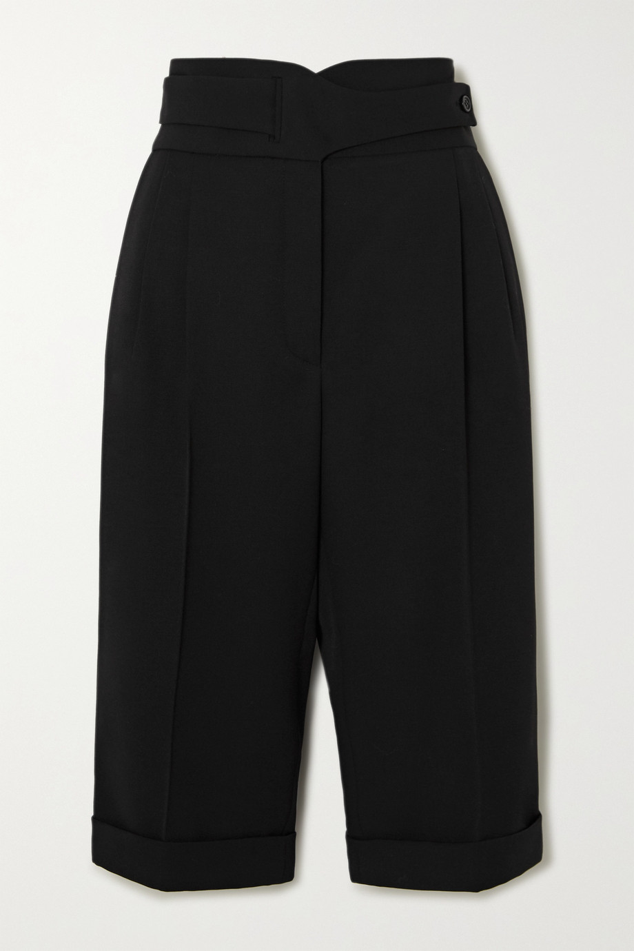 SAINT LAURENT Pleated wool-twill shorts