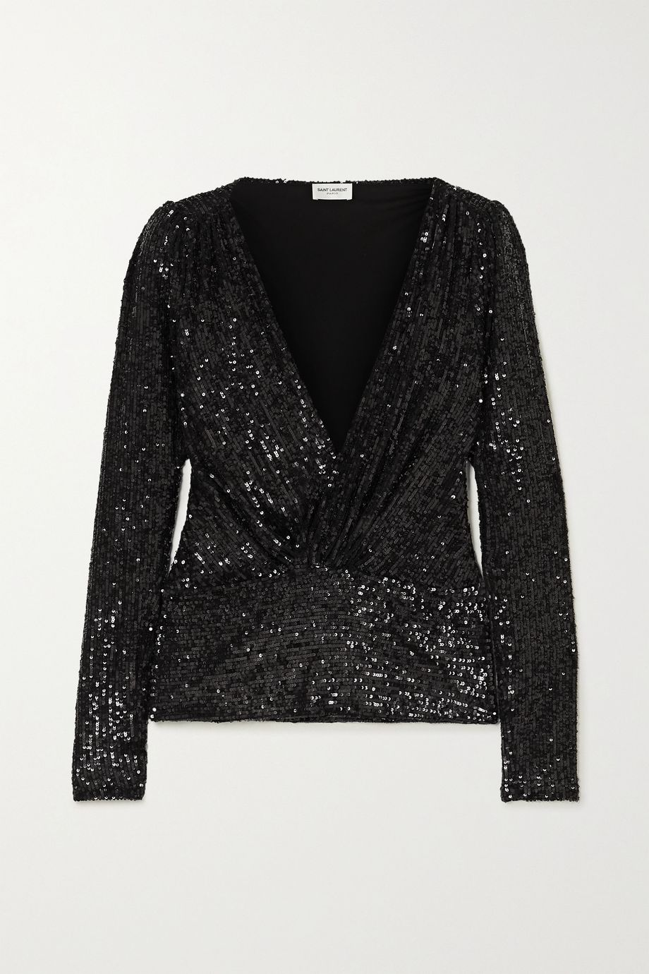 SAINT LAURENT Sequined jersey blouse
