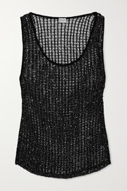 SAINT LAURENT Sequined knitted tank