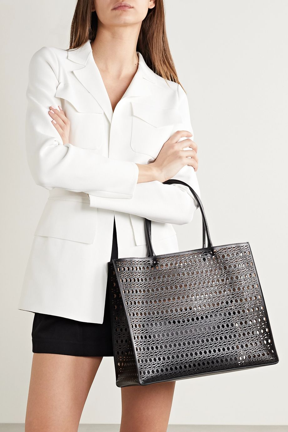 Alaïa Garance medium laser-cut leather tote