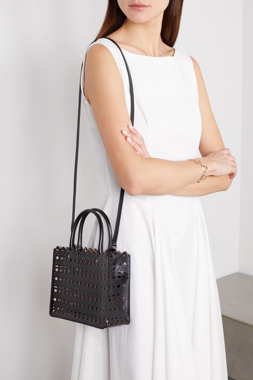 Alaïa Garance mini Tote aus lasergeschnittenem Leder