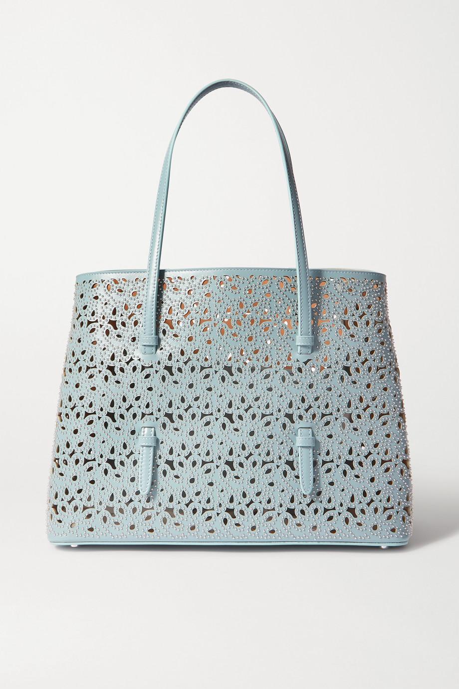Alaïa Mina medium studded laser-cut leather tote