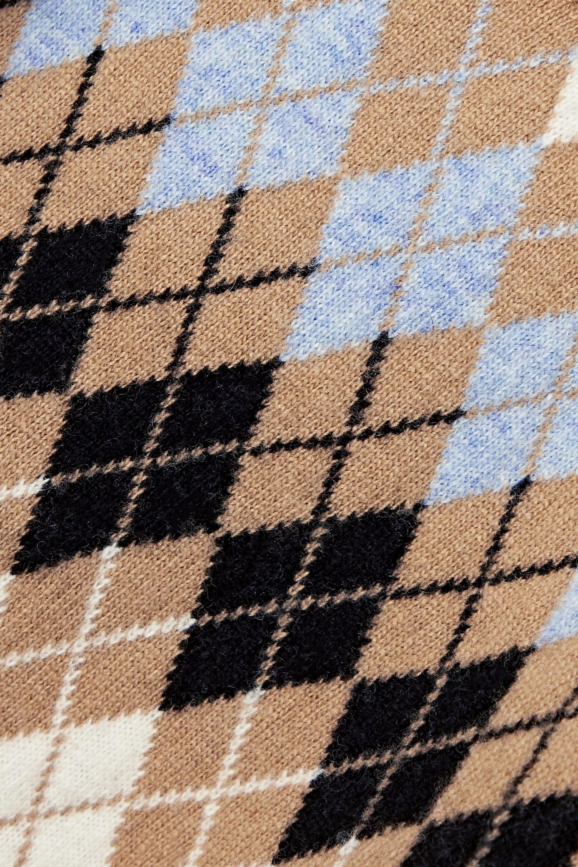 Maje Argyle wool-blend top