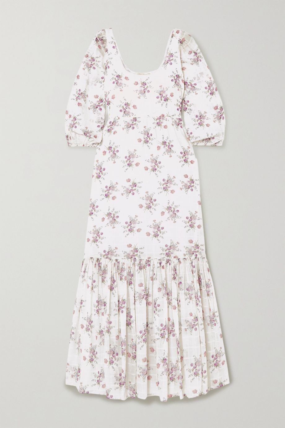 LoveShackFancy + AERIN Colby floral-print cotton-voile maxi dress