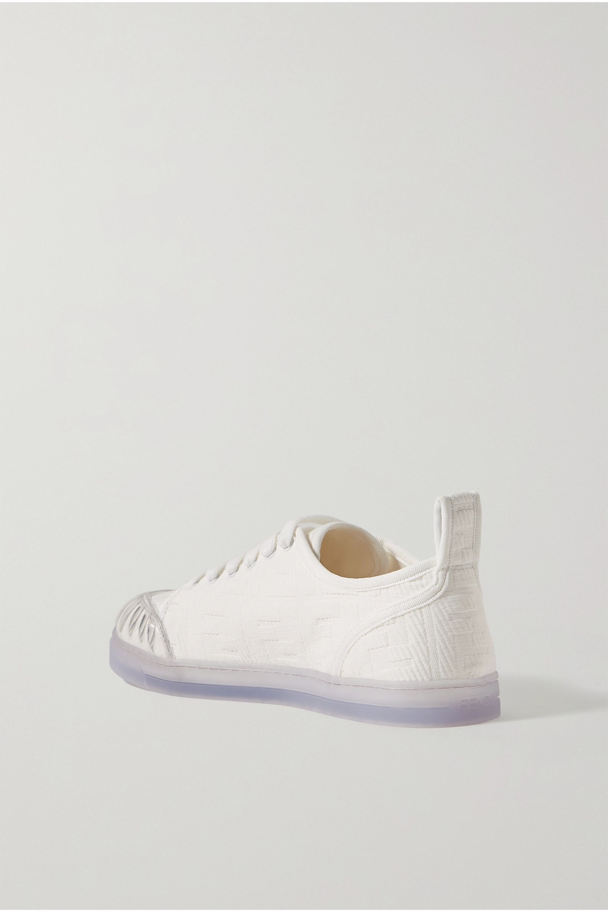 Fendi PVC-trimmed logo-jacquard canvas sneakers