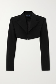 Cropped tech-scuba blazer