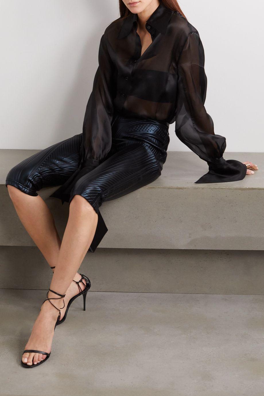 Mugler Silk-organza bodysuit