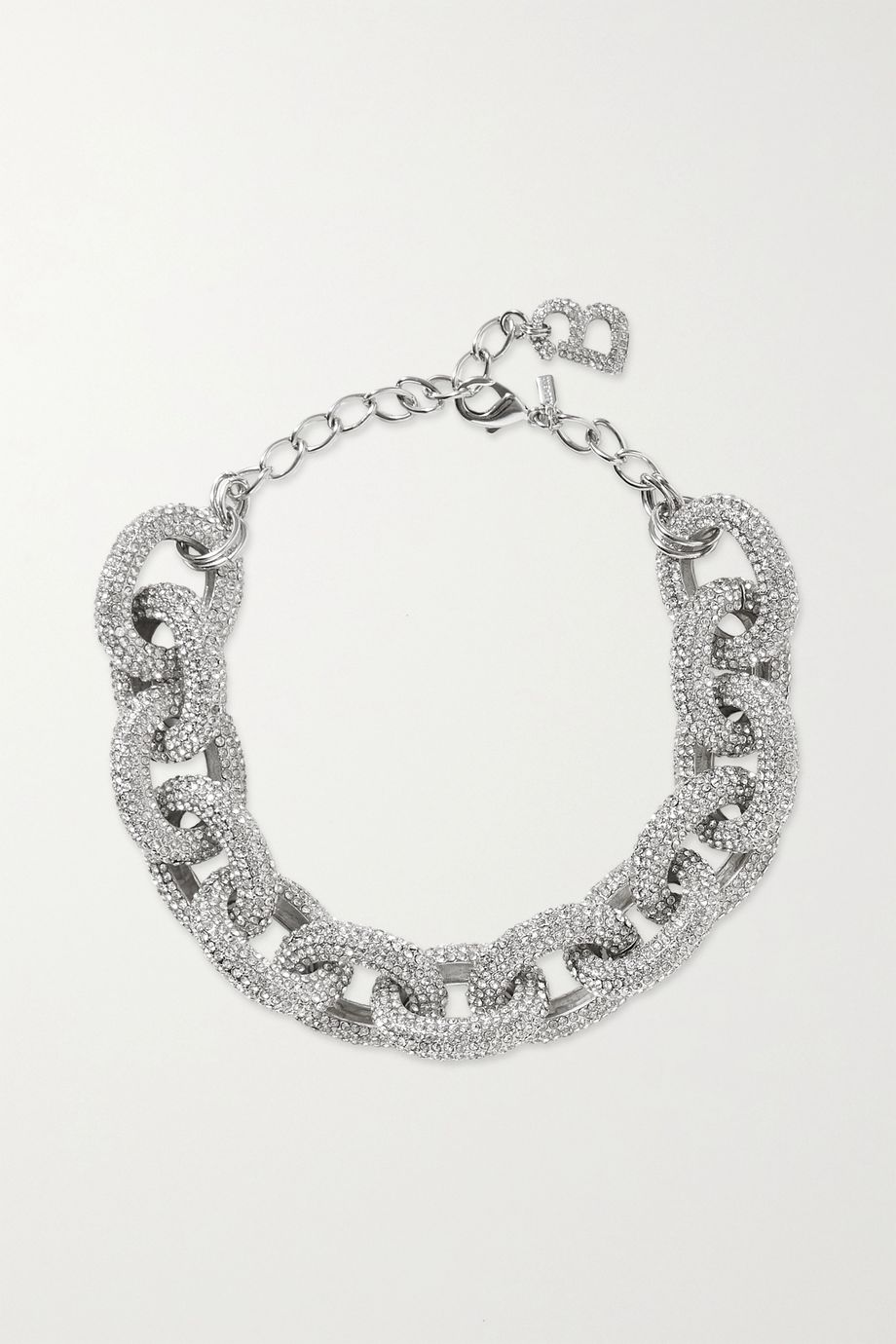 Kenneth Jay Lane + Brandon Maxwell silver-tone crystal necklace