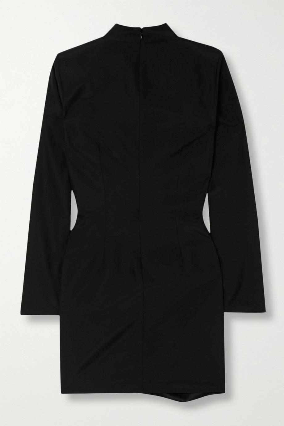 GAUGE81 Osaka draped wrap-effect silk mini dress