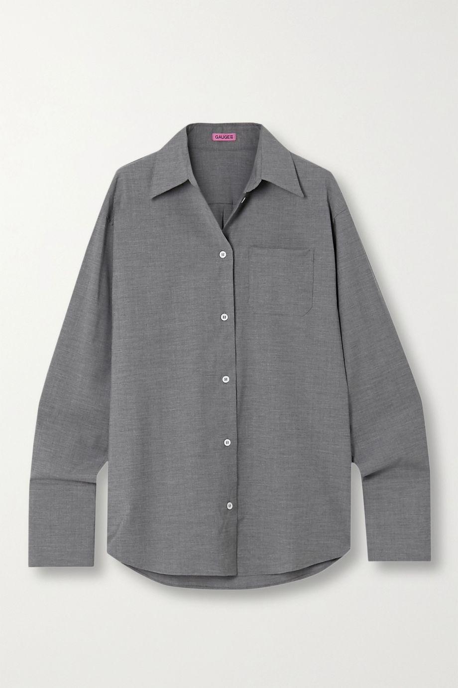 GAUGE81 Lowly oversized stretch wool-blend shirt