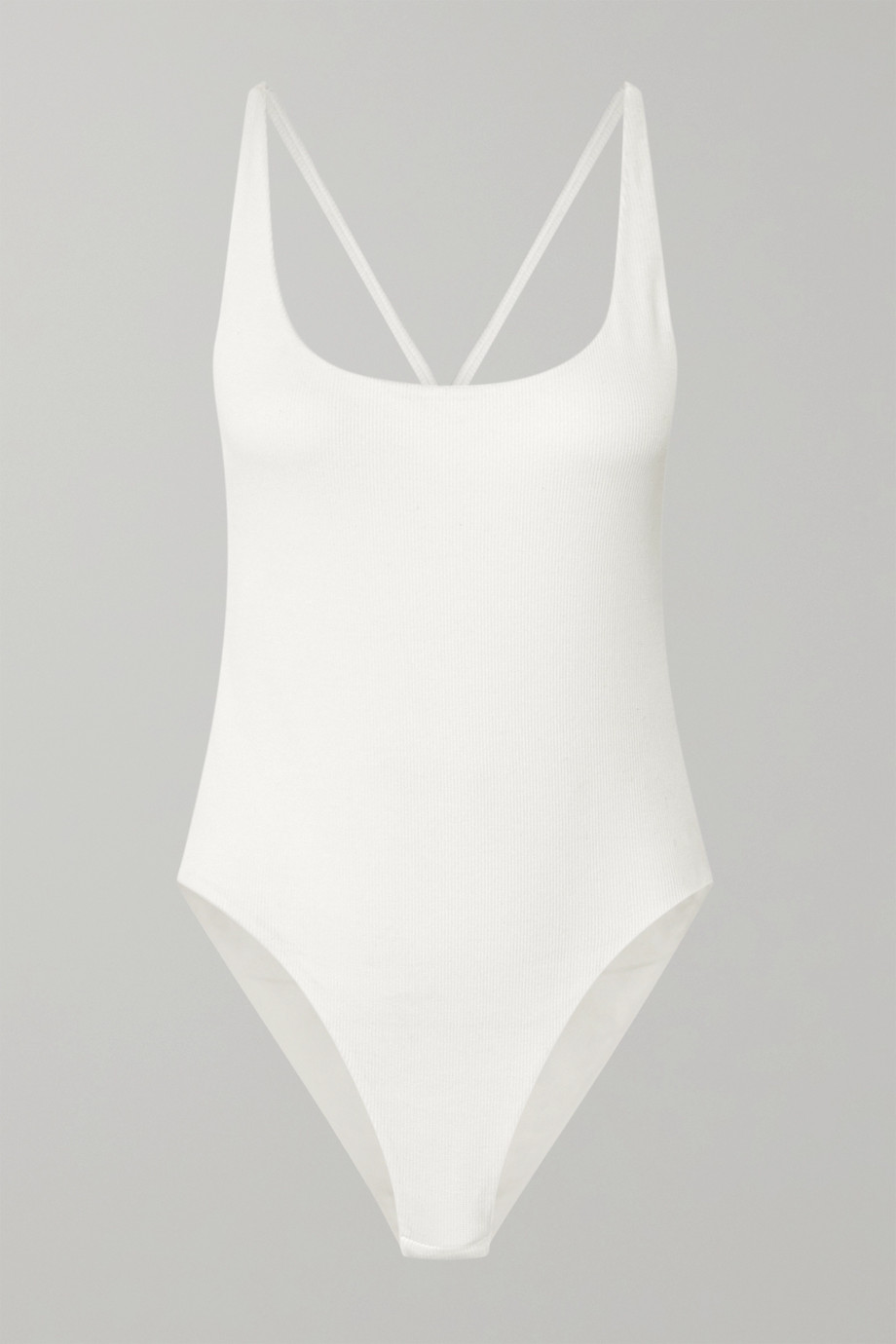 GAUGE81 Lille open-back ribbed stretch-cotton jersey bodysuit