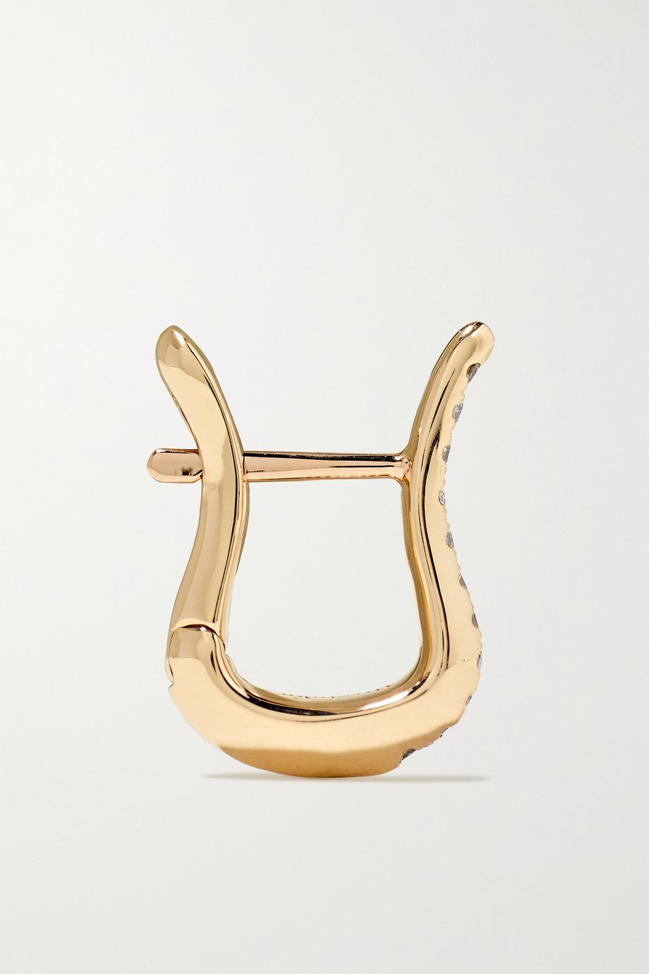 Hirotaka Cygnus 10-karat gold diamond hoop earring